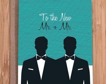 gay wedding card / mr. and mr.