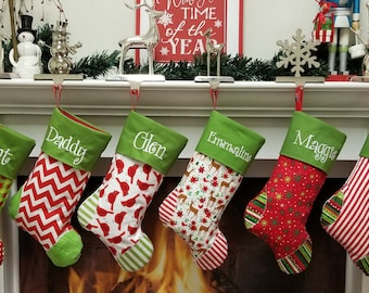 PERSONALIZED CHRISTMAS Stockings 27 styles  Ships TODAY for 2017 Embroidered.... Personalized...Monogrammed Get a head start for 2017