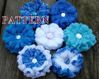Winter flowers crochet pattern, crochet flower pattern PDF, 3d crochet flower, crochet flower PDF, PDF pattern flower OlgaAndrewDesigns018