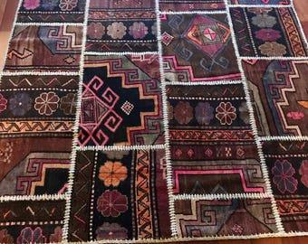 5X61/2 Turkish Patchwork Carpet