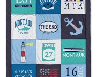 Montauk Long Island Destination Blanket