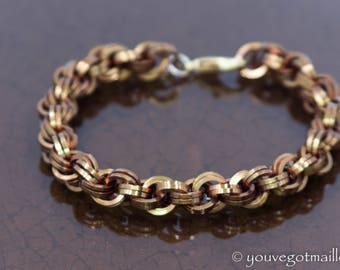 Double Spiral Chainmaille Unisex Bracelet