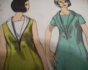 Vintage 1960's 6482 Mod Dress Sewing Pattern Sewing Pattern, Size 14 Bust 34