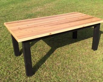 Cedar top farmhouse table