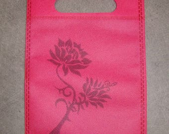 Pouch, wrapping cloth reusable 20 x 15 cm new red color