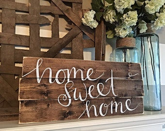Home Decor | Hand Painted Wood Sign | Rustic Decor