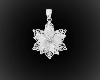 Sterling Silver embroidery Maela