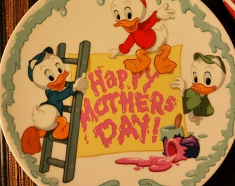 Mother's Day Disney Ducks 1996 Vintage Collectors plate