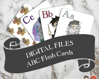 Digital Download of Harry Potter ABC Flash Cards
