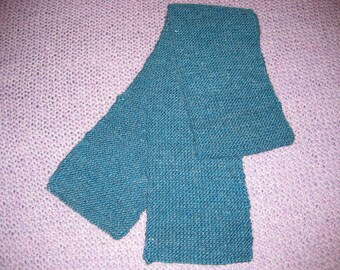 Handknit wool and mohair scarf