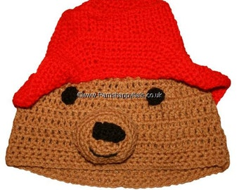 Paddington Bear inspired  Hand Crocheted Hat HH143