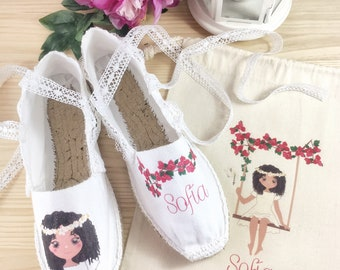 Espadrilles to knot First Communion