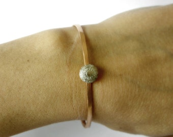 Lace Design Bracelet Silver Cuff | Copper Cuff | Gold Filled Cuff