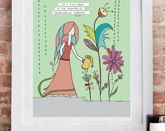 Seeds of Promise. Inspirational Art Print