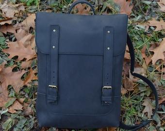Backpack. Leather Backpack.Rucksack. Personalized  Leather Satchel. Laptop.Unisex+PROMO