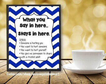 Confidentiality Rules, School Counselor Gifts, Counselor Gifts, Counseling, Guidance Counselor, Counseling Office, School Counseling Poster