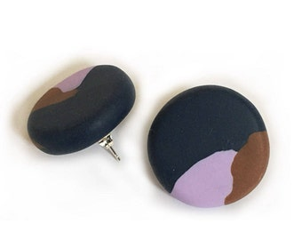 Dusky Large Stud Earrings