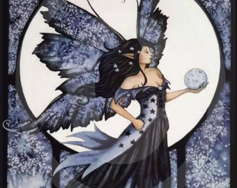 Fairy Postcard  / Mini Art   Moon  Fairy / Captured Moon - Faerie - Unposted