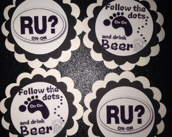 Hash House Harriers Party Cupcake Toppers R U On On