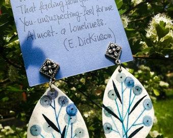 Hand Painted paper Earrings