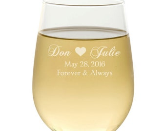 Personalized Wine Glass, Engraved Wine Glass, Wedding Favors, Wine Glasses, Wine Gift, Wedding Gift