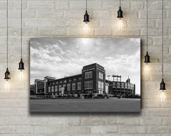 Light over Lambeau, Lambeau Field, Green Bay Packers, Large Wall Art Print, Home Decor, Man Cave, Packers Print, Packers Decor, Packers Art