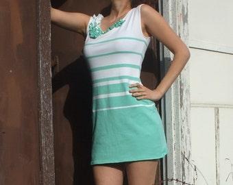 Seafoam Riviera Ruffles Dress
