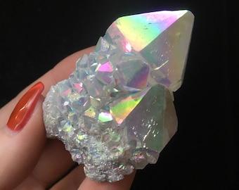Angel Aura Spirit Quartz Crystal Cluster
