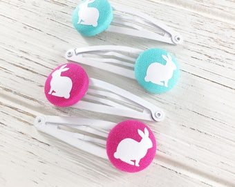 bunny hair clips, Easter hair clips, Easter gift for girl, Easter basket filler, girls easter gift, toddler hair clips, hair clips for girls