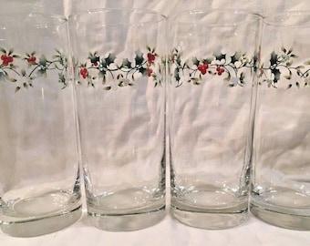 Pfaltzgraff Winterberry Four Cooler Glasses