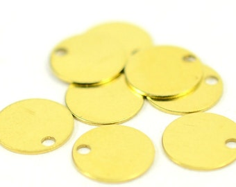 1000 Pcs Raw Brass 10 mm Stamping Findings Tag