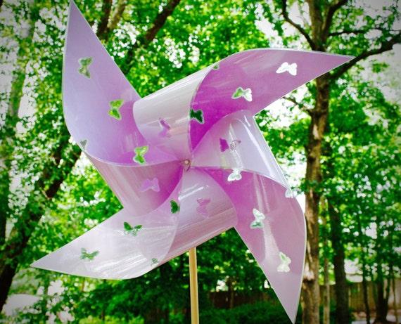 "2 Waterproof Cutout Butterfly Xtra Large 17"" Pinwheels"