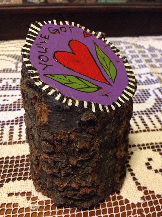 You've got heart – Tree stump art