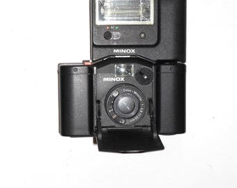 Minox 35GL Camera with Minox FC35 Flash in Case with Manuals