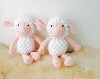 Crochet Lamb, Crochet Sheep, Sheep Armigurumi, Sheep Plush Toy, Nursery Gift,