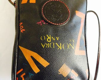 Vintage 1980's 'Carlos Falchi' Handbag With Grafitti Design - Lovely!!