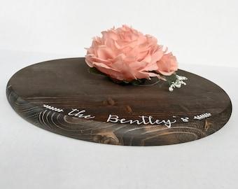 "15"" Custom Rustic Cake Stand - Round Wedding Cake Stand - Rustic Wedding Decor"