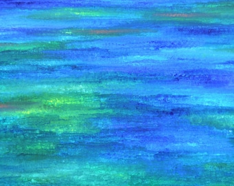 I went down to the river... Original abstract painting 100x50cm