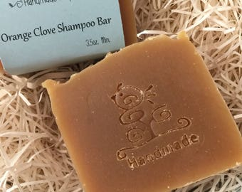 Orange Clove Shampoo Bar Soap