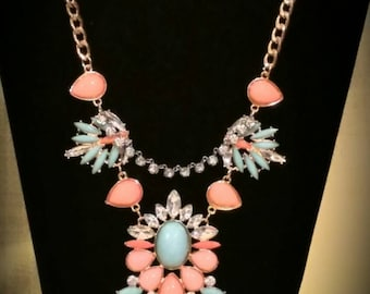 After Life Accessories Repurposed bib style, The Esther Necklace