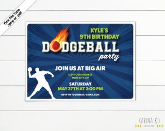 Dodgeball 5x7 Invitation