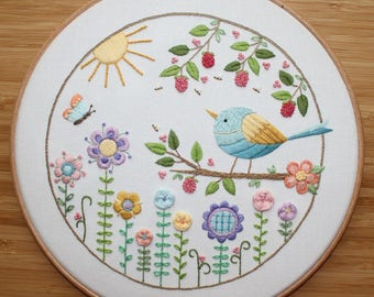 Summer Sunshine Embroidery Pattern