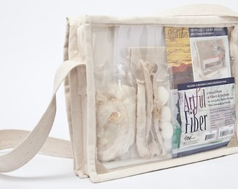 Artful Fiber -- A Mixed Pack of Fibers and Surfaces