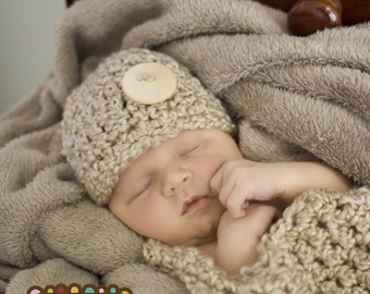 Newborn Set Photoprop in PEARL 2pcs Cocoon and Hat Photography Session all BABIES photo shoot Infant Girl Boy more COLORS available