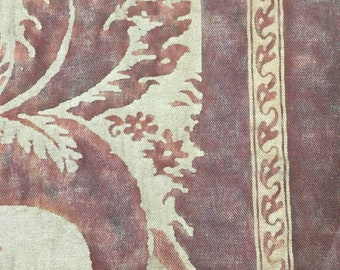 """38"""" piece of signed Fortuny fabric"""