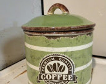 Retro Ceramic Coffee Canister