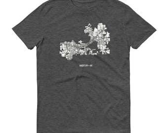 Madison Shirt, Madison WI, Madison TShirt, Madison Gift, Madison Tee, Madison Map, Wisconsin Shirt, Wisconsin Map, University, Madison