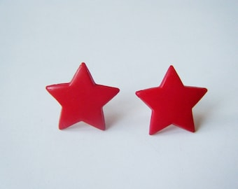 Earrings ♥ ♥ red stars