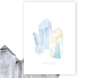 Illustrated Crystal Print Greeting Card