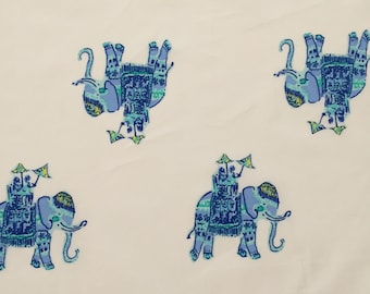 """elephant bazaar organic cotton fabric square 10""""x10"""" ~ lilly spring 2018 ~ lilly pulitzer ~ pottery barn"""